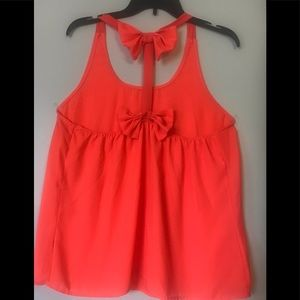 Poetry shirt neon coral
